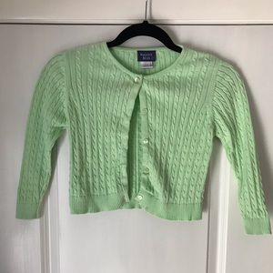 Girl's Green Sweater / Cardigan